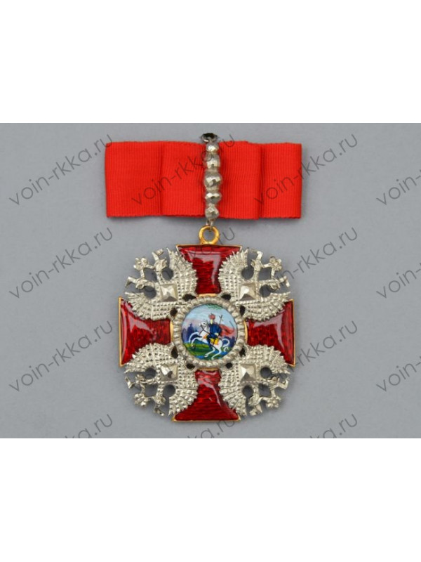 Знак ордена Св. Александра Невского с алмазной огранкой (копия)