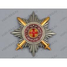 Звезда ордена Св. Анны с мечами за военные заслуги (копия)