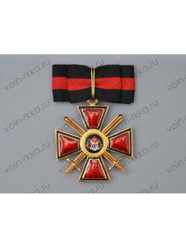 Знак ордена Св. Владимира 2 степени с мечами за военные заслуги (копия)