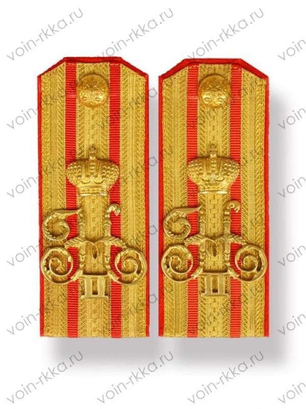 Погоны полковника с вензелями Николая II