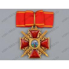 Знак ордена Св. Анны 1 степени с мечами за военные заслуги (копия)