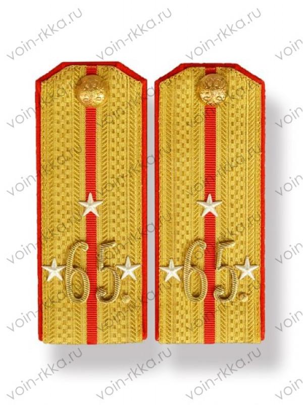 Погоны поручика 65-го Московского пехотного полка